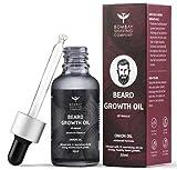 Bombay Shaving Company Beard Growth Onion Oil-10X Nourishing Oils For Stronger, Fluffier & Shinier Beard 30 ml | Made in India