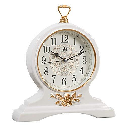 MingXinJia Relojes de Cabecera para el Hogar Reloj de Mesa Vintage...
