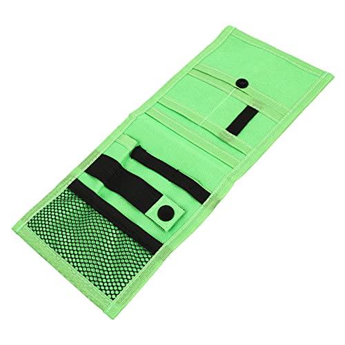 Amosfun Bolsa organizadora para herramientas de enfermería, tijeras, bolígrafo, bolsa organizadora de herramientas médicas, para médicos, tijeras, lápiz de luz, color verde