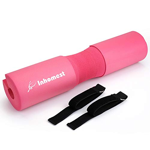 Barbell Pad Squat Pad - Advanced Neck & Shoulder Ergonomic Foam Sponge Protective Pad Support for Hip Thrusts, Squats and Lunges, Strength Training Weightlifting Cushion For Women and Men (Pink)