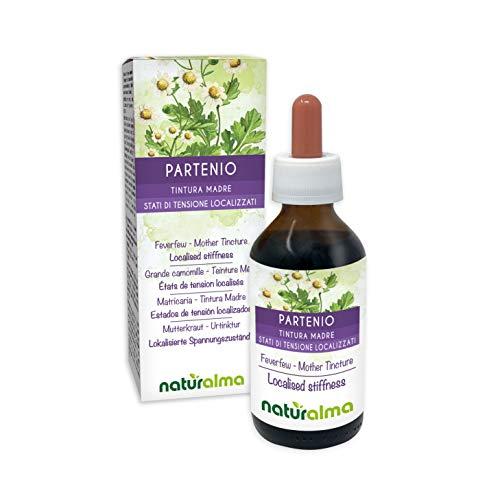 MUTTERKRAUT (Tanacetum parthenium) Kraut mit Blüten Alkoholfreier Urtinktur NATURALMA | Flüssig-Extrakt Tropfen 100 ml | Nahrungsergänzungsmittel | Veganer