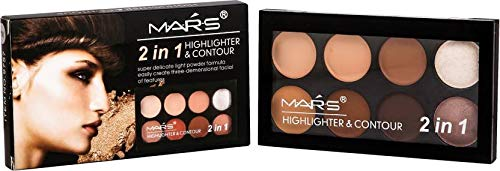 Mars 2 in 1 Highlighter and Contour (Beige-1) with Adbeni Kajal