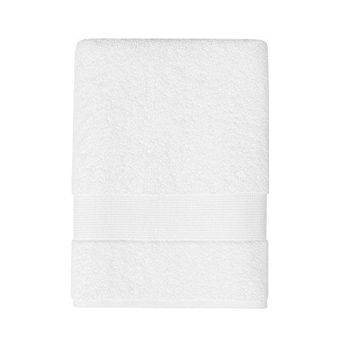 Jalla Drap de Bain, Coton Peigné, Blanc, 100x150 cm