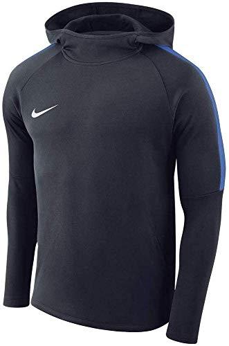 Nike Herren Academy18 Hoodie Kapuzensweatshirt, Blau (Royal blue/White/451), Gr. L