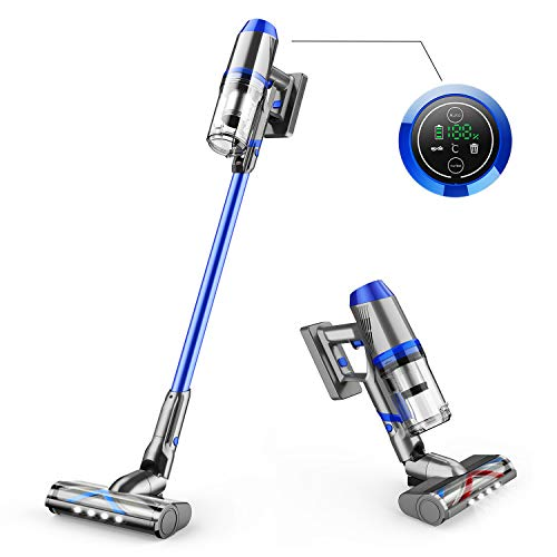 ONSON Cordless Vacuum Cleaner, 55 Minutes Long Runtime Cordless Stick Vacuum with Smart Sensor Tech, 4 in 1 Upgraded V-Shape Brush Portable Vacuum Cleaner for Hard Floor Stairs Pet Hair Deep Clean