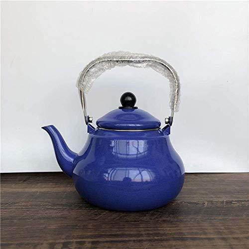 KONGZIR Enameled Kettle Kettle Pear Shaped Pot Tea Kettle Stainless Steel Handle Coffee Tea Dot Hotel Home