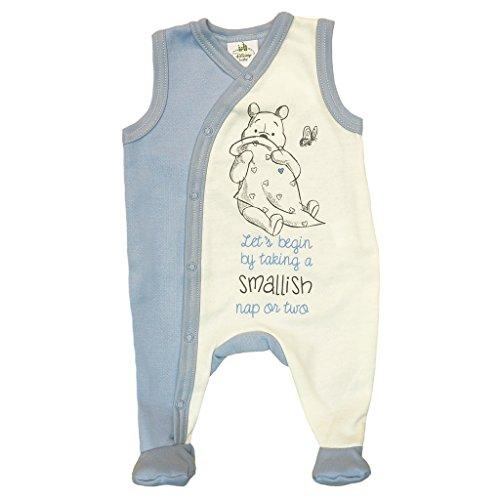 Winnie The Pooh Baby Strampler Outfit in Größe 50 56 62 68 74 80 Baumwolle warm dick leicht gefüttert, auch als Schlafanzug Schlafoverall geeignet Farbe Modell 3, Größe 74