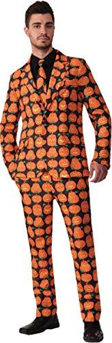 Ciao-Costume Halloween Zucca giacca e pantaloni uomo, taglia unica, Arancione, 16489