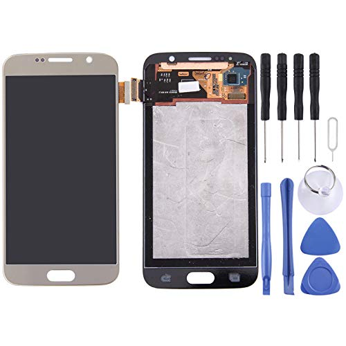 ASAMOAH Pieza de Repuesto móvil para Samsung Galaxy S6 / G9200 Pantalla LCD Original Asamblea de digitalizador de Pantalla táctil Accesorios telefónicos (Color : Gold)
