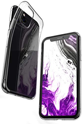 COVERbasics Cover Compatibile con iPhone 11 PRO (AIRGEL 0.3mm) Custodia Trasparente in Silicone Gel Gomma TPU Sottile Fina Ultra Thin Slim con Bordo Protezione Proteggi Fotocamera