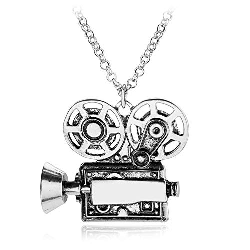 DADATU Halsketten für Herren Charm Vintage Vintage Kamera Kamera Projektor Kands Und Anhänger Filmemacher Geschenk Legierung Big State State
