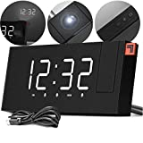 SHARPER IMAGE Projection Alarm Clock, Project The Time on Wall or Ceiling, Digital