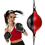 VAlinks Speed Bag Boxing Ball Double End Speed Bag PU Leather Punch Ball Striking Bag Kits for Boxing MMA Training Muay Thai Fitness or Fighting Sport