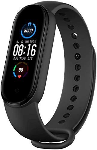 Smart Band M5 - Rastreador de actividad física, pulsera inteligente M6,0,96 pulgadas, pantalla táctil, pulsómetro, graba imágenes, control de música, podómetro, para sistemas Android e iOS