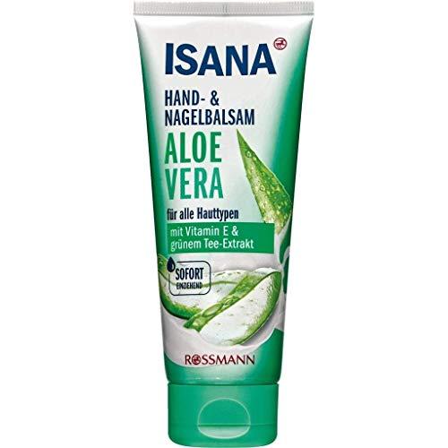 Hand- & Nagelbalsam mit Aloe Vera - Handcreme - Mit Vitamin E & grünem Tee-Extrakt - Sofort einziehend