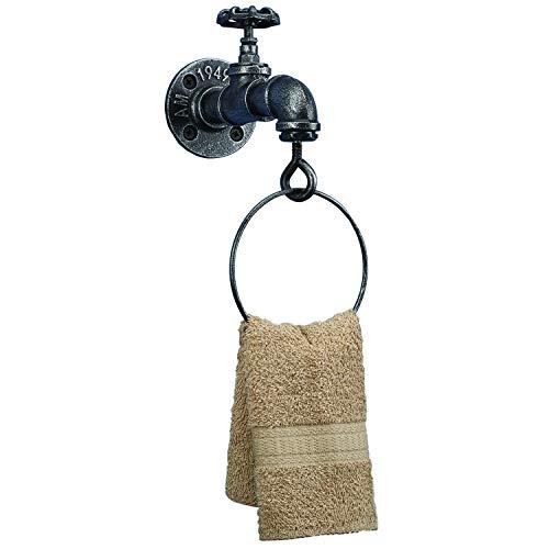 Barnyard Designs Industrieller Handtuchring, rustikaler Vintage-Stil, dekorativer Handtuchhalter, 20,3 x 17,8 x 11,4 cm