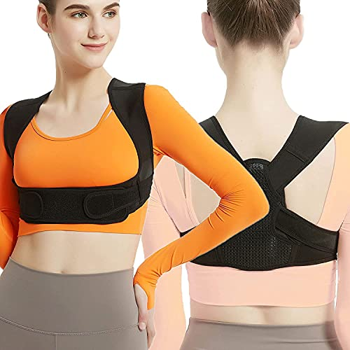 """Posture Corrector for Women and Men, Adjustable Upper Back Brace, Breathable Back Support straightener, Providing Pain Relief from Lumbar, Neck, Shoulder, and Clavicle, Back. (S/M(29""""-38""""))"""