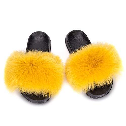 JXILY Pantuflas Zapato Antideslizante Zapatillas de Estar por Casa de Mujer Zapatillas Interior Sandalia Plana Mujer para Invierno Verano...