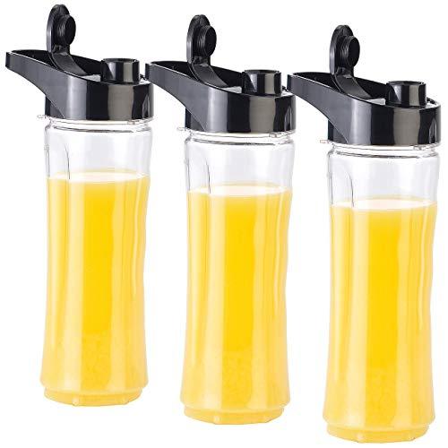 Rosenstein & Söhne Zubehör zu Universalmixer: 3er-Set Ersatz-Mix-Trinkflaschen für Smoothie-Maker BR-600, BPA-frei (Blender)