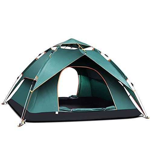 ZZWL Paar dubbele tent, specificaties: 240x210x135cm, Oxford doek PU, automatische camping pop-up tent 2-3 personen hydraulische tent dubbele waterdichte dome tent