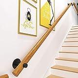 Barandillas de madera para escaleras, para interiores, pasillos, lofts, pasamanos, barandilla de seguridad montada en la pared, barandilla para niños mayores discapacitados, varilla de sopor