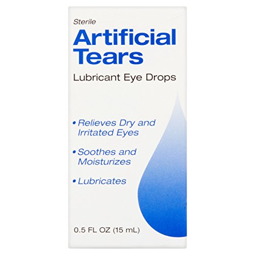 Sterile Artificial Tears Lubricant Eye Drops 0.5oz