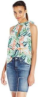 قميص نسائي من MINKPINK مطبوع عليه زهور ساحل الشمس من ساحل الشمس من الزهور