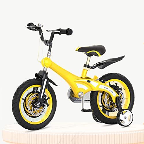 Bicicleta para Niños, Niños, Niñas, Bicicleta De Estilo Libre De 12 14 16 Pulgadas con Ruedas De Entrenamiento, Velocidad Única, para Niñas Y Niños De 2 A 8 Años
