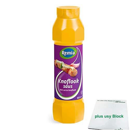 Remia Gewürz-Sauce Knoblauch Sauce 800ml (Knoflook Saus) + usy Block