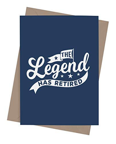 Funny retirement card for coworker or boss with envelope | Congratulations present for men or women | Goodbye card for someone who is retiring | Legend Has Retired