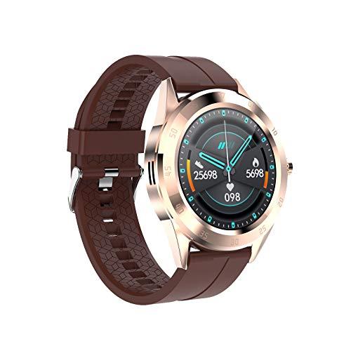 Multifunktionsarmband, Bluetooth-Anruf, Schrittzähler zur Überwachung von Herzfrequenz und Blutdruck, wasserdichte IP67-Uhr im Multisportmodus-coffee