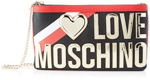 Love Moschino Damen Jc4284pp0a Kuriertasche, Schwarz (Black), 5x16x28 Centimeters
