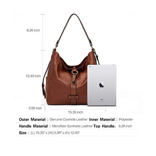 CLUCI Briefcase for Women Oil Wax Leather 15.6 Inch Laptop Business Vintage Slim Ladies Shoulder Bag Beige with Brown Handbags Purse for Women Designer Genuine Leather Brown 3