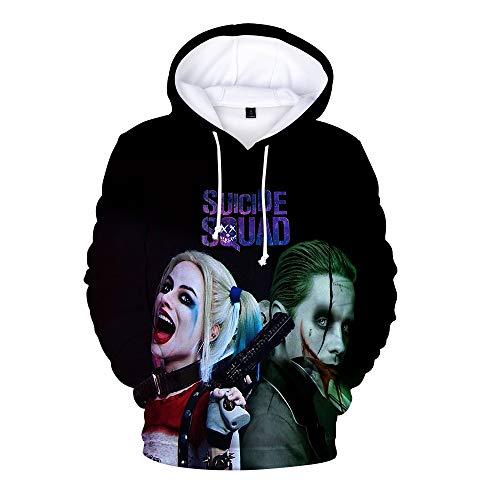 Unisex Suicide Squad Sweatshirts Sweatshirt mit Kapuze Eltern-Kind-Abnutzung gedruckte 3D-Persönlichkeit Hip Hop Langarm-Pullover Suicide Squad Kapuzenpullover (Color : A05, Size : 130)