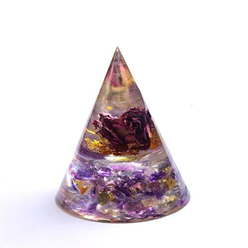 ZTTT 1 stück Natürliche Kristall Kies Stein Getrocknete Blume Silikonform Harz Dekor Handwerk Schmuck Herstellung von Form Home Decor (Color : Dried Flower 1)