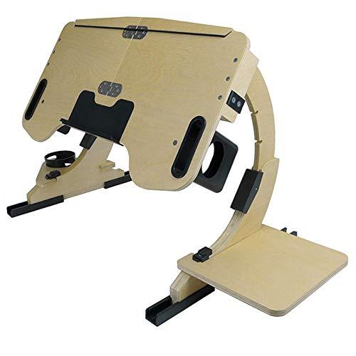 Multifunktions-Entspannungstisch - Verstellbarer Laptop-Schreibtisch für das Bett, Faltbarer Laptop-Schreibtisch mit Getränkehalter, Laptop-Bett-Tablett-Tisch zum Spielen/Essen/Schreiben/Arbeiten (A)