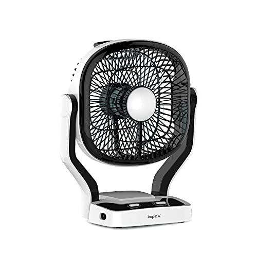 Impex BREEZE-D1 Rechargeable Table Fan with Dual Selection...