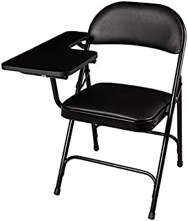 Norwood Commercial Furniture 6600 Series Vinyl Padded Folding Chair with Tablet Arm, Black, NOR-SRO593-TA-VBK-SO (Pack of 2)