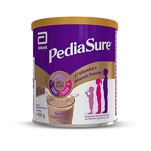 PEDIASURE: Integratore alimentare per bambini - multivitaminico con 27 vitamine e minerali e proteine | Per bambini da un anno in su | Confezione 400g | Gusto Cioccolato