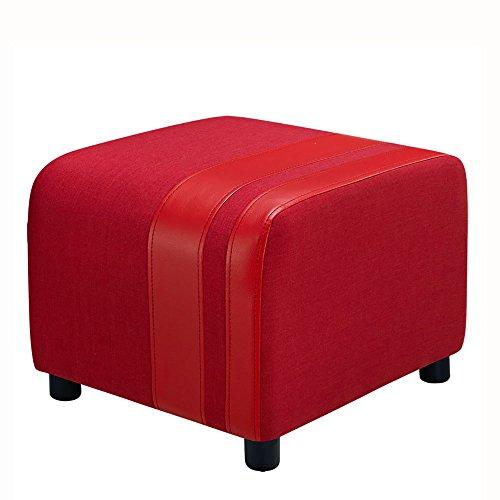 ZXQZ Tabouret européen de couture de couture / tabouret de chaussure de foyer de tissu / tabouret de sofa de salon (5 couleurs facultatives) repose-pieds de stockage ( Couleur : Rouge )