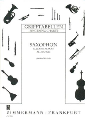 Grifftabelle Saxophon. Saxophon