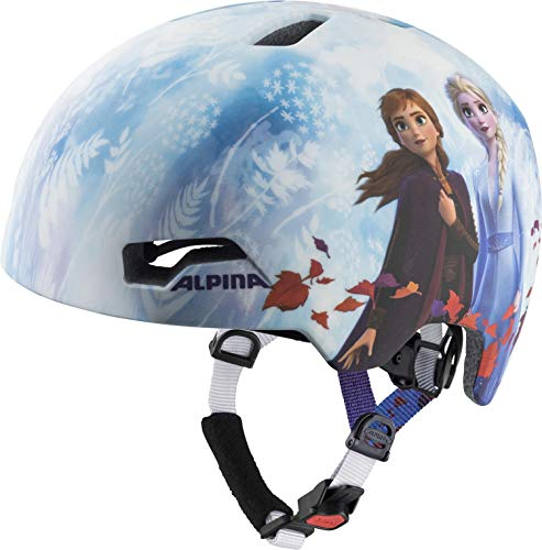 Alpina Hackney Casco de Ciclismo, Girls, Disney Frozen, 47-51