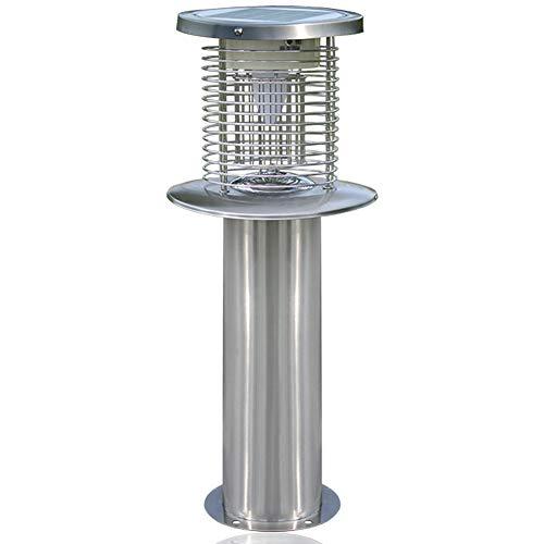 MRSGG Solar Moskito-Killer-Lampe, Ladelichtsteuerung, Mücken-Killer im Innenhof, Mückenschutzmittel im Garten, Keine Strahlung, Edelstahl, Outdoor-Typ