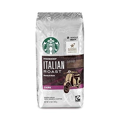 Starbucks Whole Bean Coffee, Italian Roast, 12 OZ (Pack - 3)