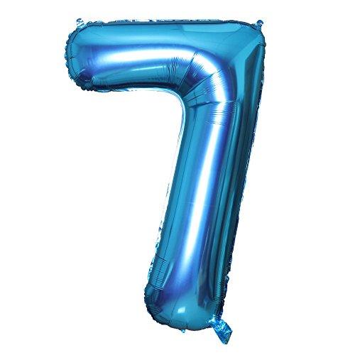 Smarcy Palloncini 7 Anni Palloncino per la Decorazione del 7 ° Compleanno