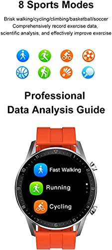 DT92 reloj inteligente hombres s Bluetooth llamada 1.72 pulgadas pantalla táctil Retina pantalla de carga inalámbrica smartwatch para Android IOS-B