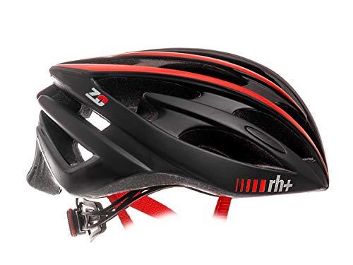 zerorh+ Helmet Z Zero, Caschi Bici Bike Helmets Permanent Unisex – Adulto, Matt Black-Matt Red, L/XL