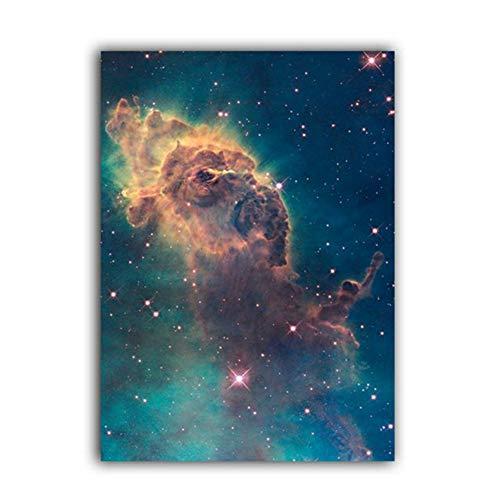 Universo Art Galaxy Poster Nebula Impresiones Telescopio Hubble Space Canvas Painting Science Wall Art Picture -50x70cm Sin marco