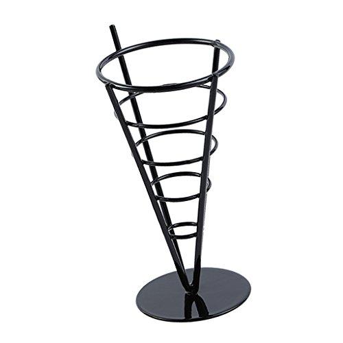 Amuzocity Rack de Filtro Cono de Chip para Freidora Papas Fritas Papas Fritas Wire Holder - Negro