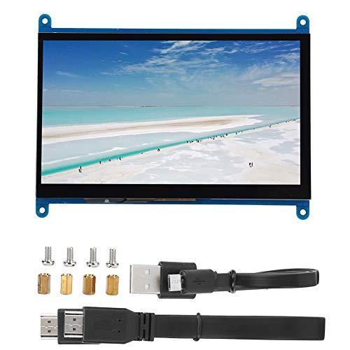 para Pantalla Raspberry Pi, Monitor HD de Pantalla táctil de 1024 x 600 de 7 Pulgadas con Interruptor de luz de Fondo